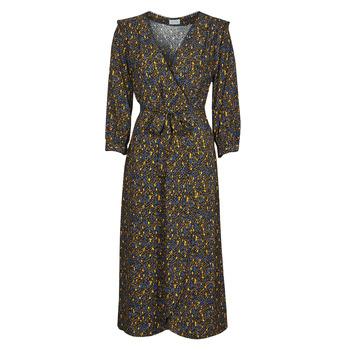 Vêtements Femme Robes longues Vila VIZUGI Noir / Jaune / Bleu