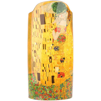 Maison & Déco Vases, caches pots d'intérieur Muzeum Vase en céramique silhouette - Klimt - Le Baiser 22.2 cm Jaune