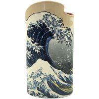 Maison & Déco Vases, caches pots d'intérieur Muzeum Vase en céramique silhouette Hokusai - La Grande Vague Bleu
