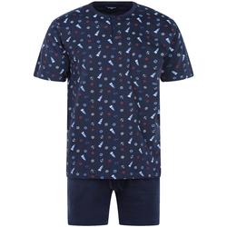 Vêtements Homme Pyjamas / Chemises de nuit Guasch - pyjama court Bleu nuit