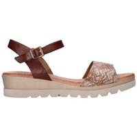 Chaussures Femme Sandales et Nu-pieds Valeria's 7182 Mujer Cuero marron