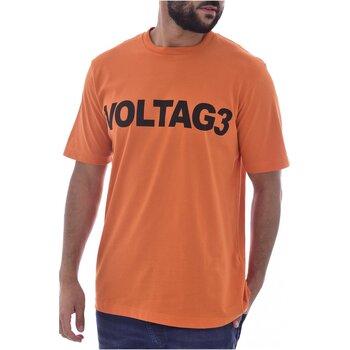 Animal jeune slub manches courtes T-shirt en Abricot Orange