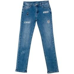 Vêtements Enfant Jeans slim Interdit De Me Gronder PATCH Bleu