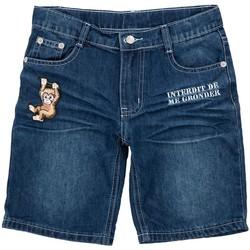Vêtements Garçon Shorts / Bermudas Interdit De Me Gronder MONKITO Bleu marine