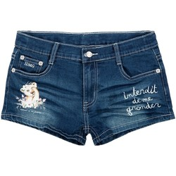 Vêtements Fille Shorts / Bermudas Interdit De Me Gronder LIONYA Bleu marine