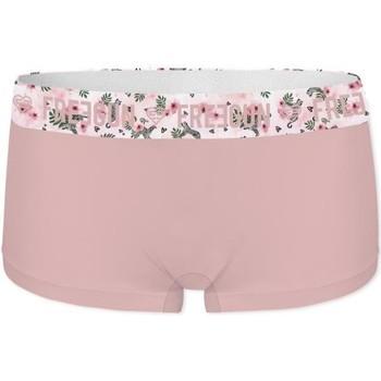 Sous-vêtements Femme Shorties & boxers Freegun Boxer Femme Coton bio FLEUR Rose pâle Rose