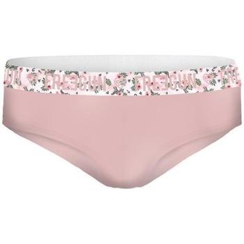 Sous-vêtements Femme Shorties & boxers Freegun Shorty Femme Coton bio FLEUR Rose pâle Rose