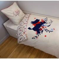Maison & Déco Parures de lit Chipie Parure de lit  réversible 140 x 200 cm Blanc