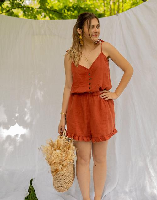 Vêtements Femme Combinaisons / Salopettes Céleste NEROLI Terracotta