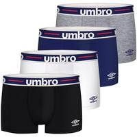 Sous-vêtements Homme Boxers Umbro Lot de 4 Boxers coton homme uni ceinture Noir