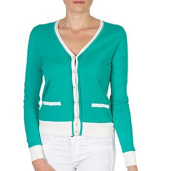 Vêtements Femme Gilets / Cardigans Petit Bateau TSARY Vert / Blanc