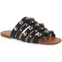 Chaussures Femme Mules Miss Unique UNIQUE OURO CALF PRETO BORCHIE Dorato