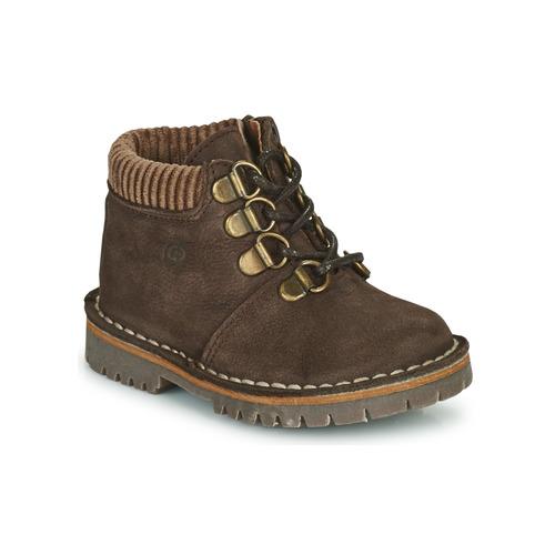 Chaussures Garçon Boots Citrouille et Compagnie PRINCE Marron