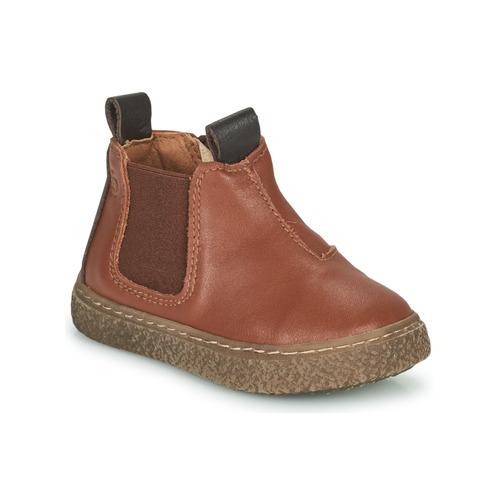 Chaussures Garçon Boots Citrouille et Compagnie PESTACLE Camel