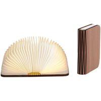 Maison & Déco Lampes à poser Retro Lampe en forme de livre en bois véritable Noyer - Taille L Marron