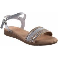 Chaussures Femme Sandales et Nu-pieds Duendy femme  3205 argent Argenté