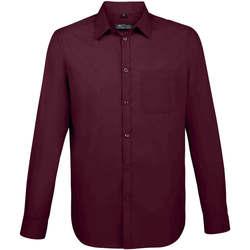 Vêtements Homme Chemises manches longues Sols BALTIMORE FIT FUCSIA Violeta