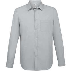 Vêtements Homme Chemises manches longues Sols BALTIMORE FIT GRIS Gris