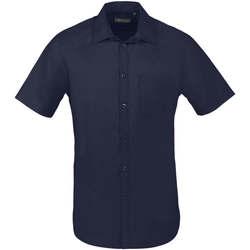 Vêtements Homme Chemises manches courtes Sols BRISTOL FIT Azul Oscuro Azul
