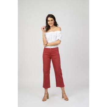 Vêtements Jeans 3/4 & 7/8 Toxik3 Jean évasé court -  Kamila Rouge