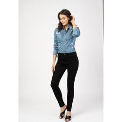 Vêtements Pantalons 5 poches Toxik3 Pantalon  taille haute - Lili Noir
