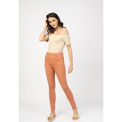 Vêtements Pantalons 5 poches Toxik3 Pantalon taille haute - Lilix Orange