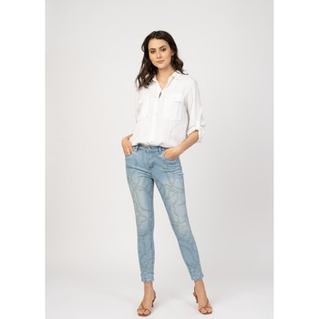 Vêtements Jeans slim Toxik3 Jean imprimé - Jay Bleu jean clair