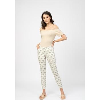 Vêtements Femme Livraison gratuite et Retour offert Toxik3 Pantalon imprimé rayé - Mayane Beige