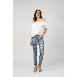 Vêtements Livraison gratuite et Retour offert Toxik3 Pantalon imprimé camo - Dix Bleu