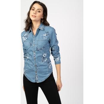 Vêtements Femme Blousons Toxik3 Chemise fleurie - June Bleu jean