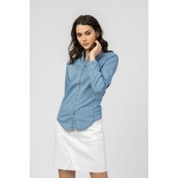 Vêtements Femme Blousons Toxik3 Chemise rayure - Dol Bleu jean