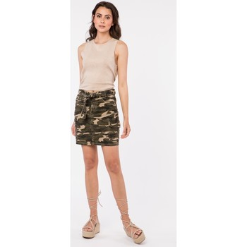 Vêtements Femme Blousons Toxik3 Jupe army - Viky Kaki