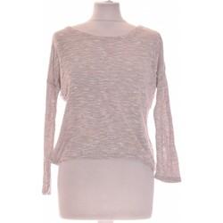 Vêtements Femme Tops / Blouses H&M Top Manches Longues  36 - T1 - S Rose
