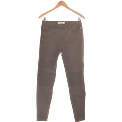 Vêtements Femme Pantalons 5 poches Zara Pantalon Slim Femme  36 - T1 - S Gris
