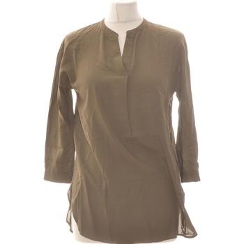 Vêtements Femme Tops / Blouses Uniqlo Blouse  34 - T0 - Xs Vert
