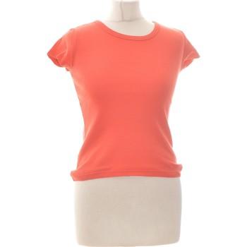 Vêtements Femme Tops / Blouses Naf Naf Top Manches Courtes  36 - T1 - S Orange