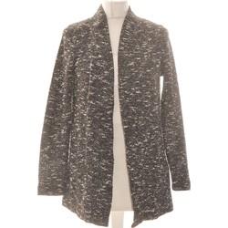 Vêtements Femme Gilets / Cardigans Camaieu Gilet Femme  36 - T1 - S Noir
