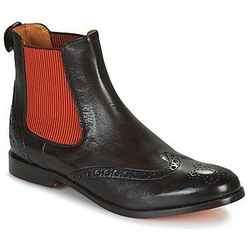 Chaussures Femme Boots Melvin & Hamilton AMELIE 5 Marron / Orange