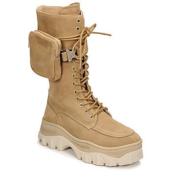Chaussures Femme Boots Bronx JAXSTAR HIGH Beige