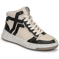 Chaussures Femme Baskets montantes Bronx OLD COSMO Blanc / Noir