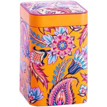 Maison & Déco Paniers, boites et corbeilles Zen Et Ethnique Boite métal Fireflower orange pour le thé Contenance 100 grs Orange