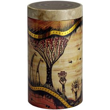 Maison & Déco Paniers, boites et corbeilles Zen Et Ethnique Boite métal Savannah pour le thé Contenance 500 grs Beige