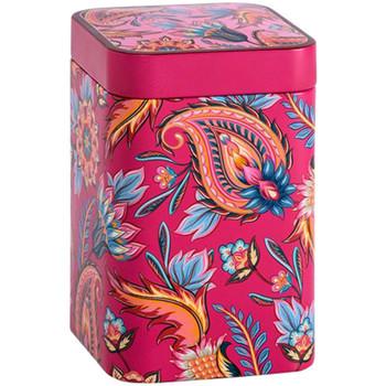 Maison & Déco Paniers, boites et corbeilles Zen Et Ethnique Boite métallique Fireflower rose pour le thé Contenance 100 grs Rose