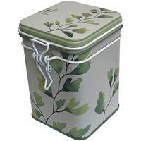 Maison & Déco Paniers, boites et corbeilles Zen Et Ethnique Petite boite Ginkgo pour le thé Contenance 150 gr Blanc