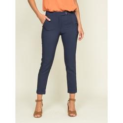 Vêtements Femme Chinos / Carrots Dona X Lisa Pantalon cigarette ECLAIR Bleu marine