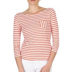 Vêtements Femme T-shirts manches longues Petit Bateau TUBACO Blanc / Orange