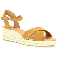 Chaussures Femme Sandales et Nu-pieds Pao Espadrille cuir velours  whisky Whisky