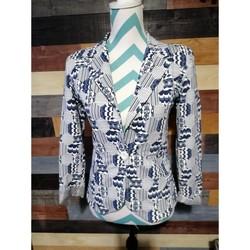 Vêtements Femme Vestes / Blazers Sans marque Veste blazer Bleu