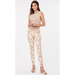 Vêtements Femme Livraison gratuite et Retour offert Toxik3 Pantalon print floral - Hana Beige