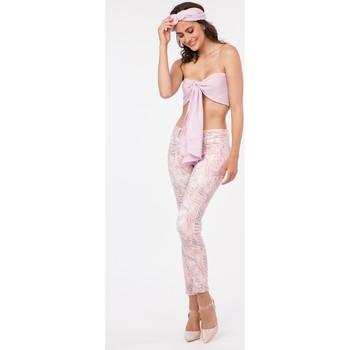 Vêtements Femme Livraison gratuite et Retour offert Toxik3 Pantalon imprimé - Rosa Rose